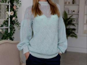 Вязаный свитер — скидки. Ярмарка Мастеров - ручная работа, handmade.