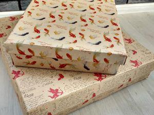 Простой способ сделать упаковочную коробку своими руками. Ярмарка Мастеров - ручная работа, handmade.