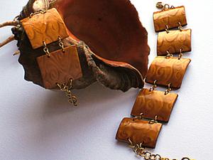 Браслет из полимерной глины в технике мика шифт. Ярмарка Мастеров - ручная работа, handmade.
