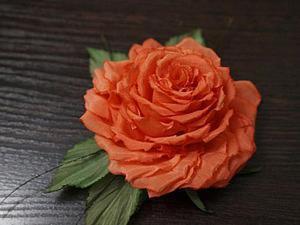 """Мастер-класс по созданию броши """"Роза"""". Ярмарка Мастеров - ручная работа, handmade."""