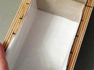 Выстилаем деревянную форму бумагой. Ярмарка Мастеров - ручная работа, handmade.