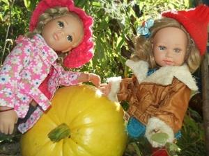 Куклы Лина и Иришка собирают урожай. Ярмарка Мастеров - ручная работа, handmade.