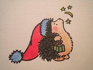 Мастер-класс: отрисовка для скрапбукинга «Ежик». Ярмарка Мастеров - ручная работа, handmade.