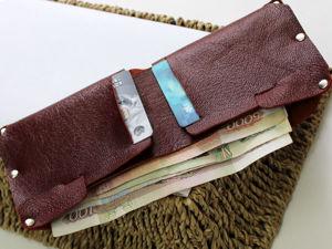 Мастер-класс: изготовление кожаного кошелька. Ярмарка Мастеров - ручная работа, handmade.