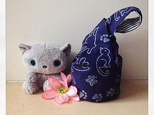 Шьем японскую сумку-мешочек с набивным рисунком. Ярмарка Мастеров - ручная работа, handmade.