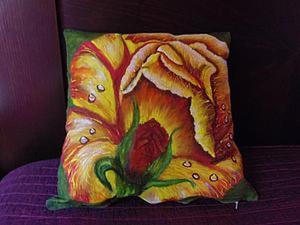 Рисуем на ткани желтую розу. Часть первая. Ярмарка Мастеров - ручная работа, handmade.