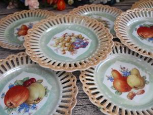 Раритет! 1918 — 1929гг.! Антикварный  ажурный фруктово-ягодный комплект Schumann, Германия. Ярмарка Мастеров - ручная работа, handmade.