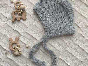 Вяжем детский чепчик из норки. Ярмарка Мастеров - ручная работа, handmade.