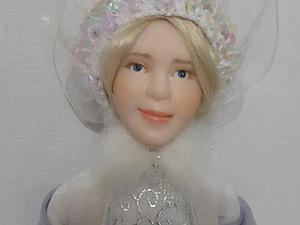 Роспись лица куклы-снегурочки. Мастер-класс. Ярмарка Мастеров - ручная работа, handmade.