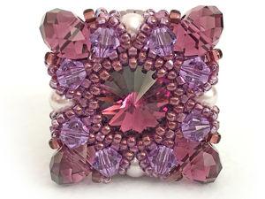 Видео мастер-класс по созданию кольца из бисера и кристаллов Swarovski «RENATA». Ярмарка Мастеров - ручная работа, handmade.