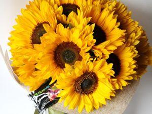 Только 7 дней. Гладиолусы, подсолнухи, Ромашки и другие цветы со скидкой до 20%. Ярмарка Мастеров - ручная работа, handmade.
