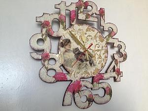 Создание настенных часов в стиле шебби шик. Ярмарка Мастеров - ручная работа, handmade.
