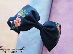 How to Make a Headband with a Bow and Satin Stitch. Livemaster - handmade