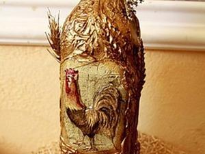 Как задекорировать бутыль в деревенском стиле. Ярмарка Мастеров - ручная работа, handmade.