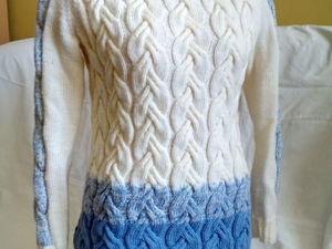 Аукцион на свитер  «Косы» ! Старт 2500 р.!. Ярмарка Мастеров - ручная работа, handmade.