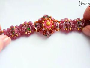 Making Crystal Bracelet: Part 1. Livemaster - handmade
