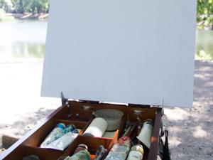 Процесс рисования (пленер в парке). Ярмарка Мастеров - ручная работа, handmade.