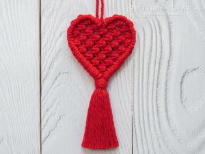 Плетём брелок в форме сердца в технике макраме. Ярмарка Мастеров - ручная работа, handmade.