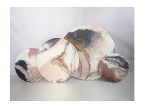 Набор круглых панно из эпоксидной смолы. Ярмарка Мастеров - ручная работа, handmade.