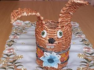 """Видео мастер-класс """"Зайка"""". Плетение из бумаги. Ярмарка Мастеров - ручная работа, handmade."""
