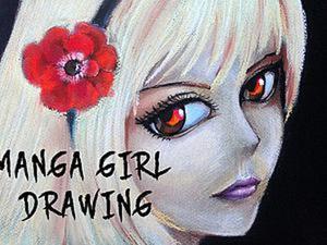 Рисуем девочку-Манга. Ярмарка Мастеров - ручная работа, handmade.