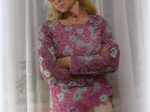 Ажурный пуловер из мохера. Ярмарка Мастеров - ручная работа, handmade.