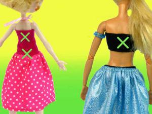 Можно шить без застежек одежду для кукол? Что делать, если машинка пропускает стежки на трикотаже?. Ярмарка Мастеров - ручная работа, handmade.