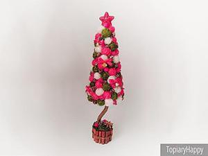 Видео мастер-класс: новогодний топиарий — ёлочка своими руками. Ярмарка Мастеров - ручная работа, handmade.