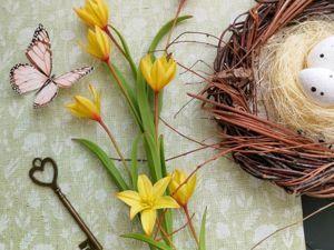 Как создать тюльпан лесной из холодного фарфора. Ярмарка Мастеров - ручная работа, handmade.