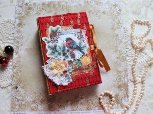 Обзор мини-альбома ЧУдесная зима. Ярмарка Мастеров - ручная работа, handmade.