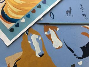 Как рождается чудо: роспись сумки «Краса и Буря». Ярмарка Мастеров - ручная работа, handmade.
