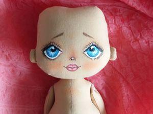Расписываем лицо текстильной куклы. Ярмарка Мастеров - ручная работа, handmade.
