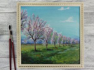 Как рисовать гуашью? Цветущий весенний пейзаж для начинающих. Ярмарка Мастеров - ручная работа, handmade.