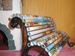 «Журнальная история»: делаем декоративную скамеечку. Ярмарка Мастеров - ручная работа, handmade.