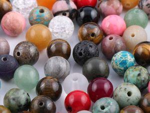 Ликвидация наборов бусин из натуральных камней до 20/06. Ярмарка Мастеров - ручная работа, handmade.
