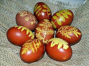"""Красим яйца """"по старинке"""". Ярмарка Мастеров - ручная работа, handmade."""
