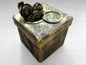 Декор картонной коробки своими руками // Имитация металла. Ярмарка Мастеров - ручная работа, handmade.
