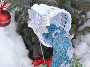 Плетем парящую чашку «Новогодний водопад». Ярмарка Мастеров - ручная работа, handmade.