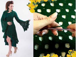 Видео мастер-класс: вязание узора крючком. Ярмарка Мастеров - ручная работа, handmade.