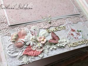 Как сделать цветочки и веточку для свадебного альбома. Ярмарка Мастеров - ручная работа, handmade.