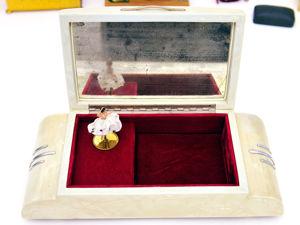 1955-1970гг Винтажная Перламутровая Музыкальная Шкатулка с Балериной. Ретро дизайн в стиле автомобиля Кадиллак. Ярмарка Мастеров - ручная работа, handmade.