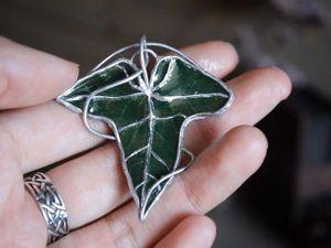 Создаем с помощью лориэнского листа брошку в форме листа. Ярмарка Мастеров - ручная работа, handmade.
