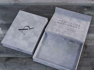 Наши невероятные бархатные коробки с шелкографией чёрного цвета. Ярмарка Мастеров - ручная работа, handmade.