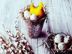 Создаем пасхальную композицию «Курочка в гнезде». Ярмарка Мастеров - ручная работа, handmade.