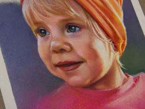 Портрет сухой пастелью  «Маленькая красотуля». Ярмарка Мастеров - ручная работа, handmade.