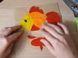 Шьем пазл из фетра для малыша. Ярмарка Мастеров - ручная работа, handmade.