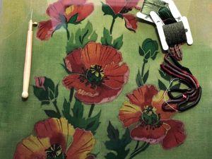 Совмещаем батик и вышивку. Ярмарка Мастеров - ручная работа, handmade.
