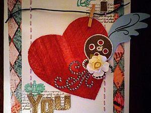 "Открытка ""I love you"". Ярмарка Мастеров - ручная работа, handmade."