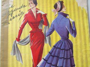 Элегантные линии- старый журнал мод -1953- Редкость. Ярмарка Мастеров - ручная работа, handmade.