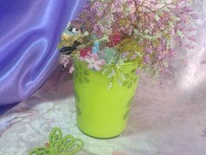 Создаем из бисера весеннее деревце «Вишня в цвету». Ярмарка Мастеров - ручная работа, handmade.